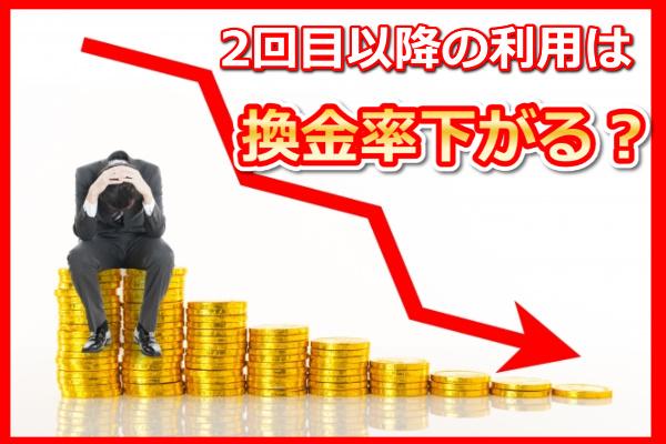 ユニオンジャパンでする現金化の換金率に関する画像